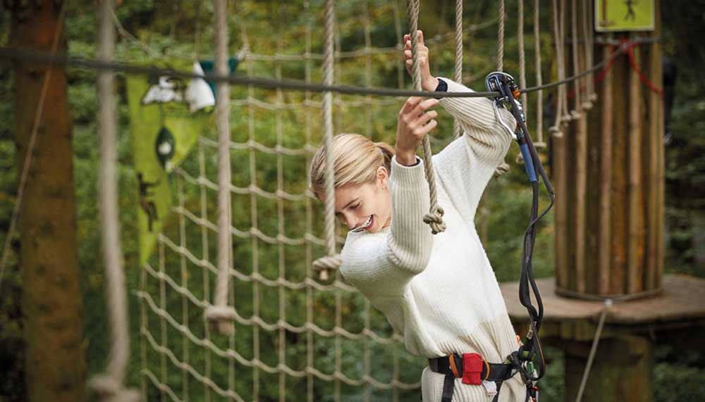 Hig Ropes Experience At Go Ape Moors Valley