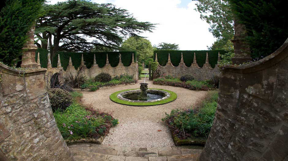 View of the gardens at Athelhampton