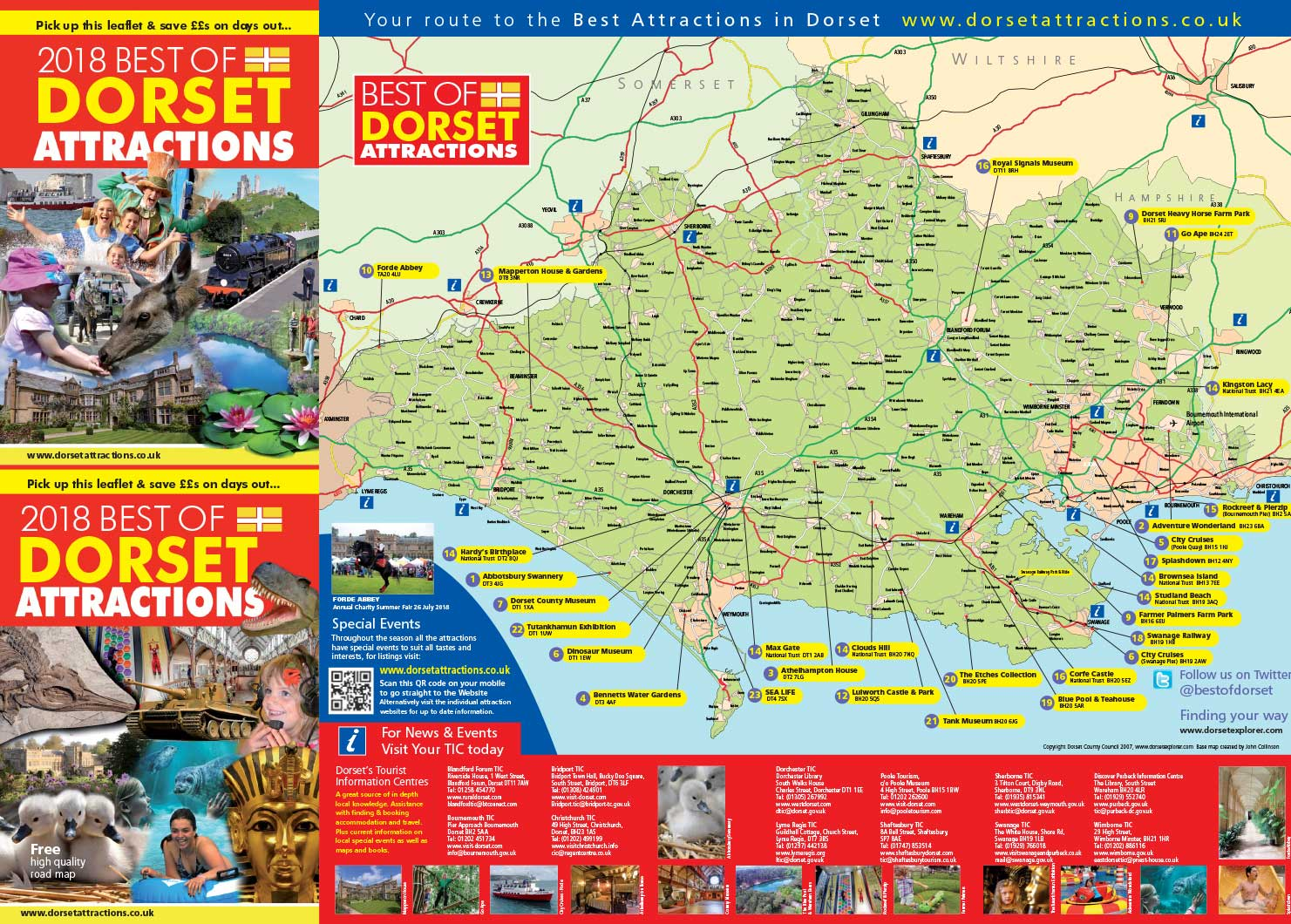 Best of Dorset 2018 leaflet (front)