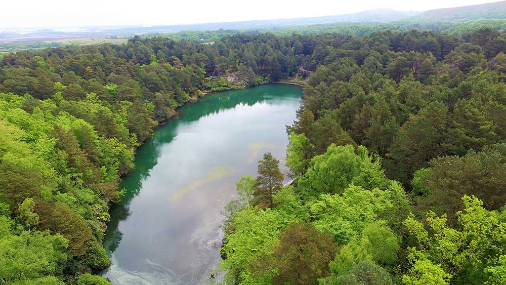 Blue Pool From The Air