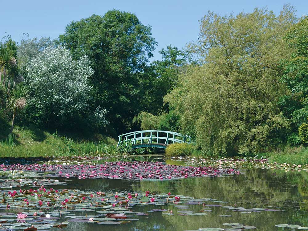 Replica Monet bridge at Bennetts Water Gardens