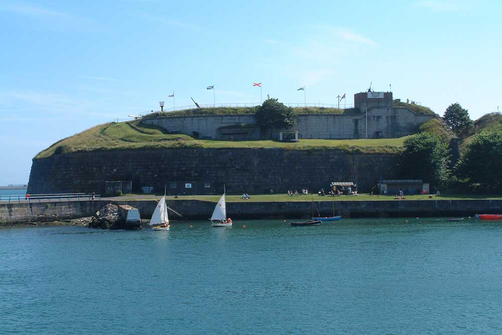 Eastern side of Nothe Fort