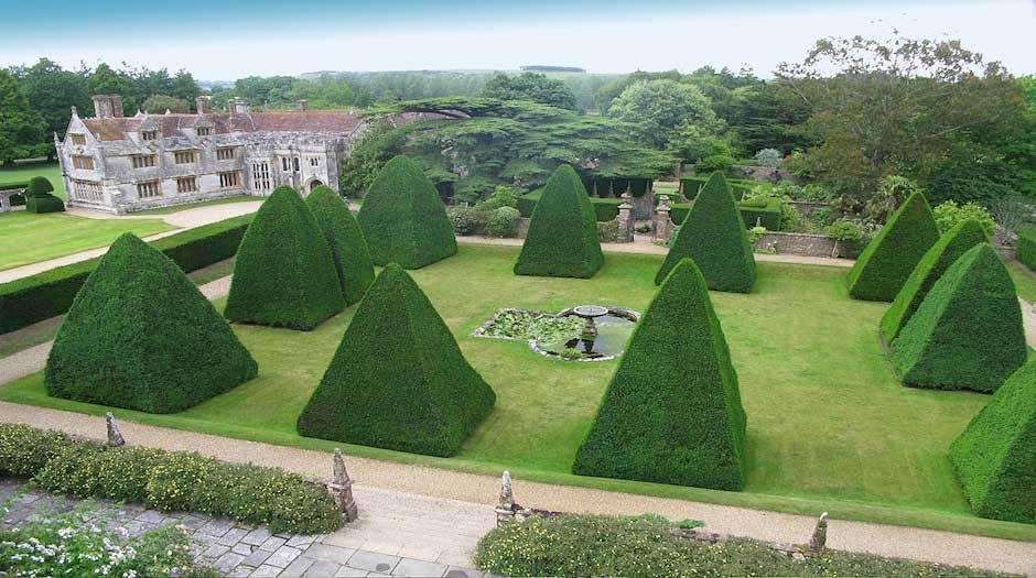 The Great Court at Athelhampton Gardens