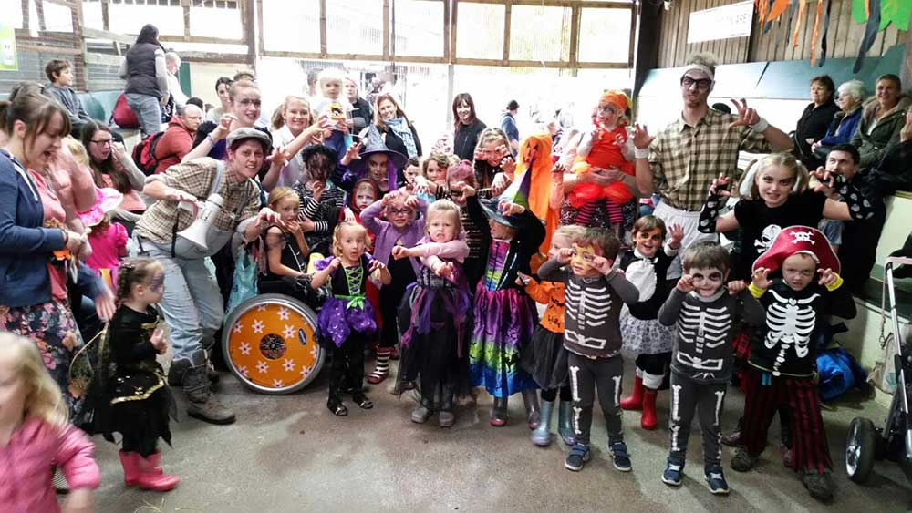 Fun during Halloween at Farmer Palmer's Farm Park