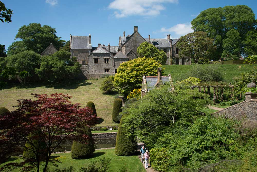 Looking across the Gardens towards the manor house
