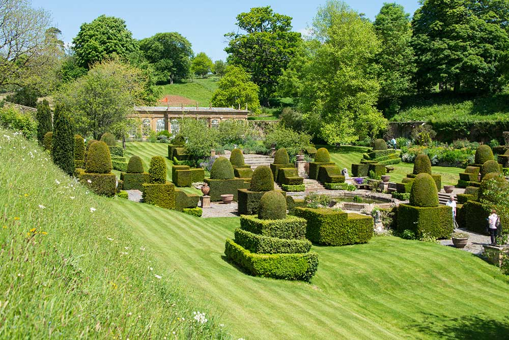 Mapperton House Italianate garden