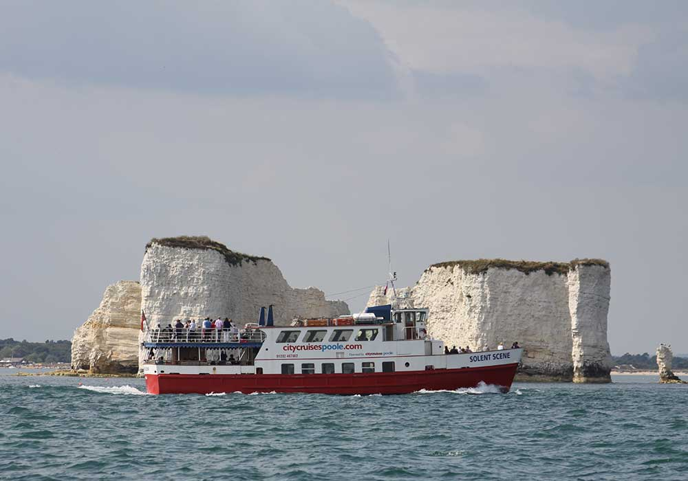 Solent Scene in front of Old Harry Rocks - City Cruises Poole