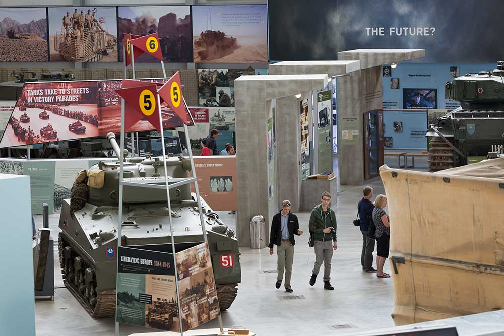 One of the Tank Museum's halls, housing the exhibitions