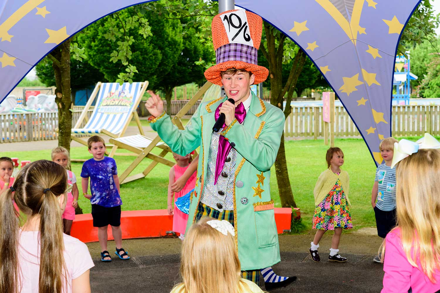 The Mad Hatter - children's entertainment at Adventure Wonderland