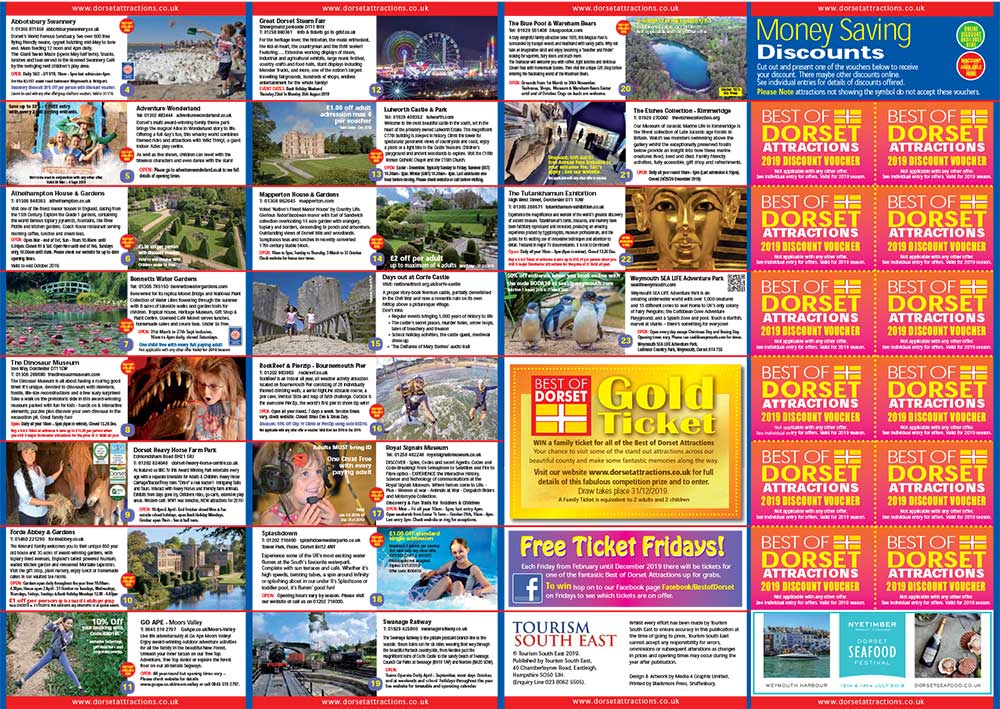 Best of Dorset Attractions 2019 Brochure