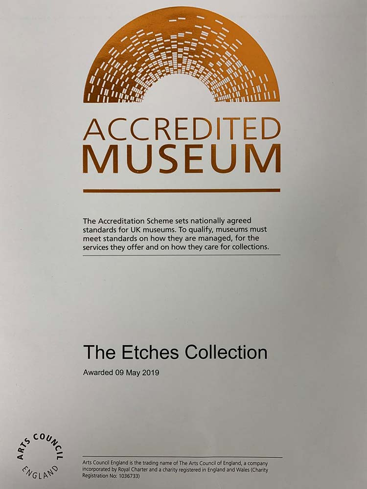 The Etches Collection Awarded Accredited Museum Status!