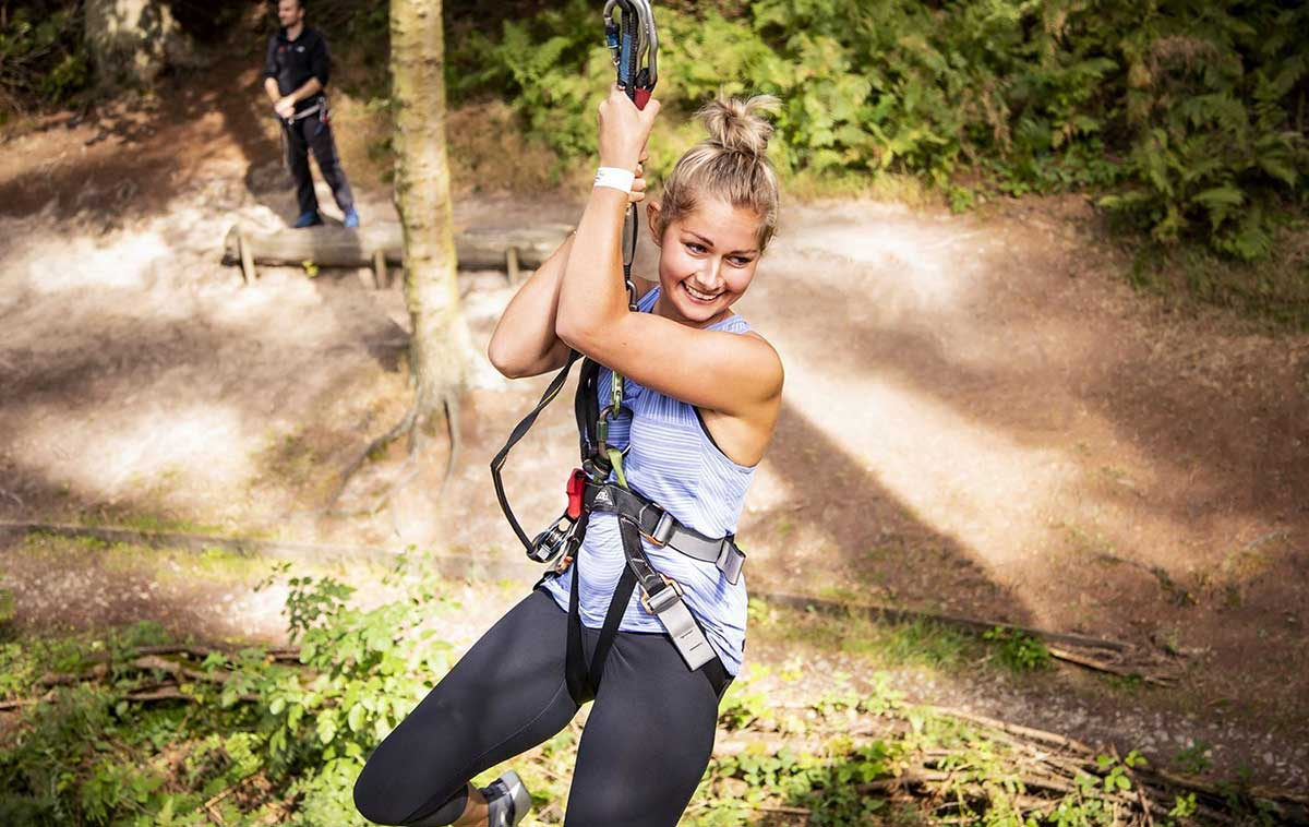 Treetop Challenge at Go Ape Moors Valley