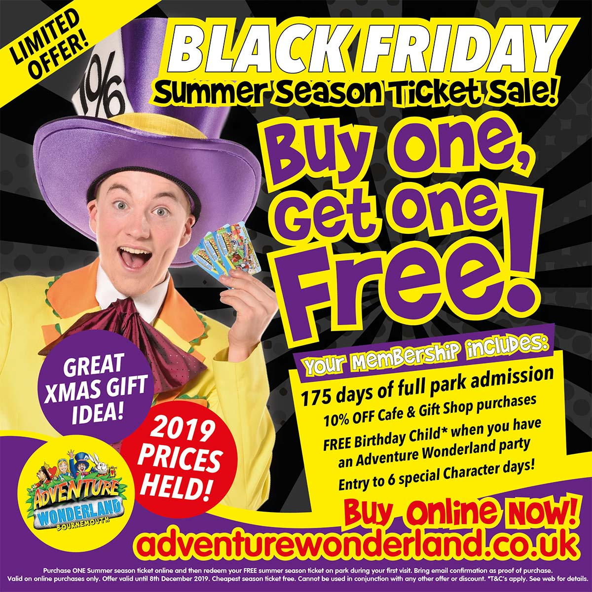 Adventure Wonderland Black Friday Ticket Offer