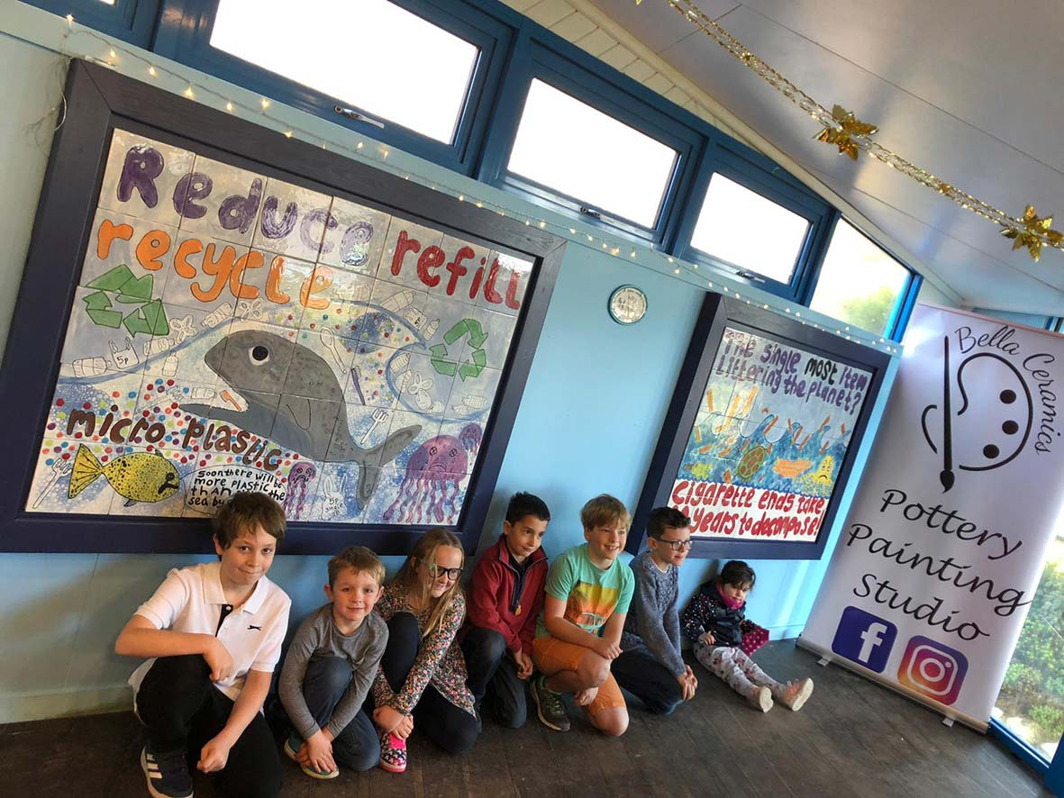 New School Art Project Unveiled At Weymouth SEA LIFE