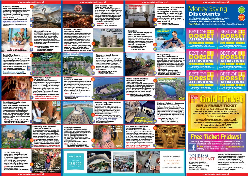 Best of Dorset 2020 Brochure back