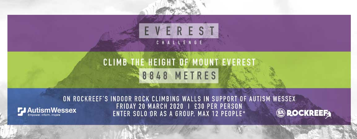 Everest Challenge At RockReef, Raising Funds For Autism Wessex