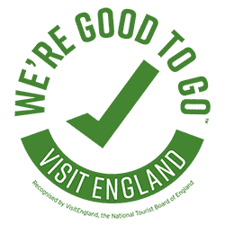 We're good to go, certified by Visit England