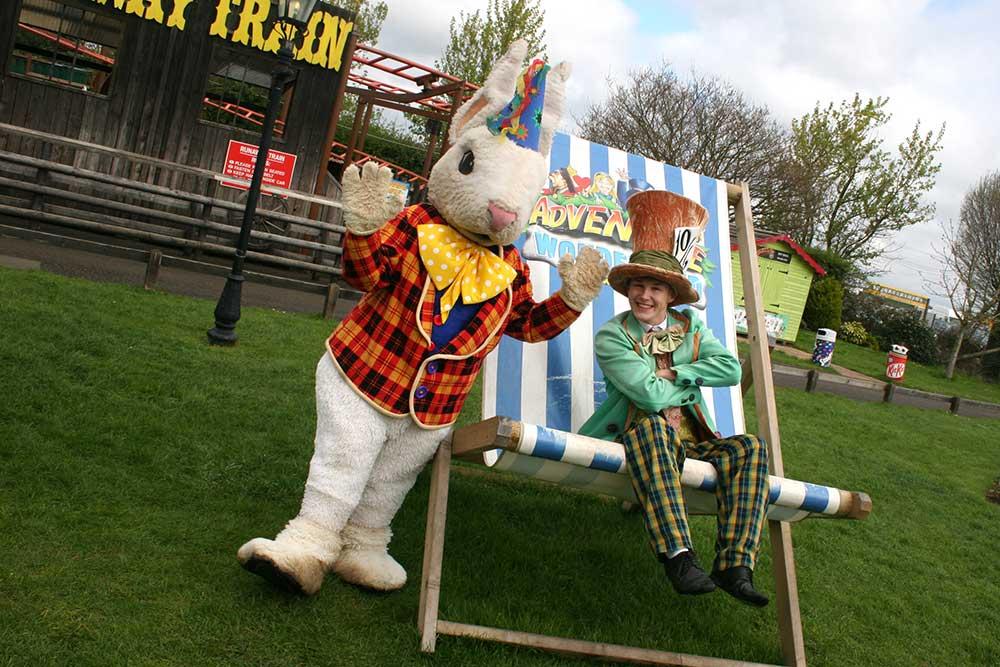 Adventure Wonderland - Mr Rabbit and Mad Hatter Deck Chairs