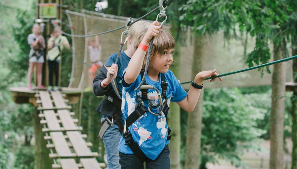 Perfect kids day out at Go Ape Moors Valley