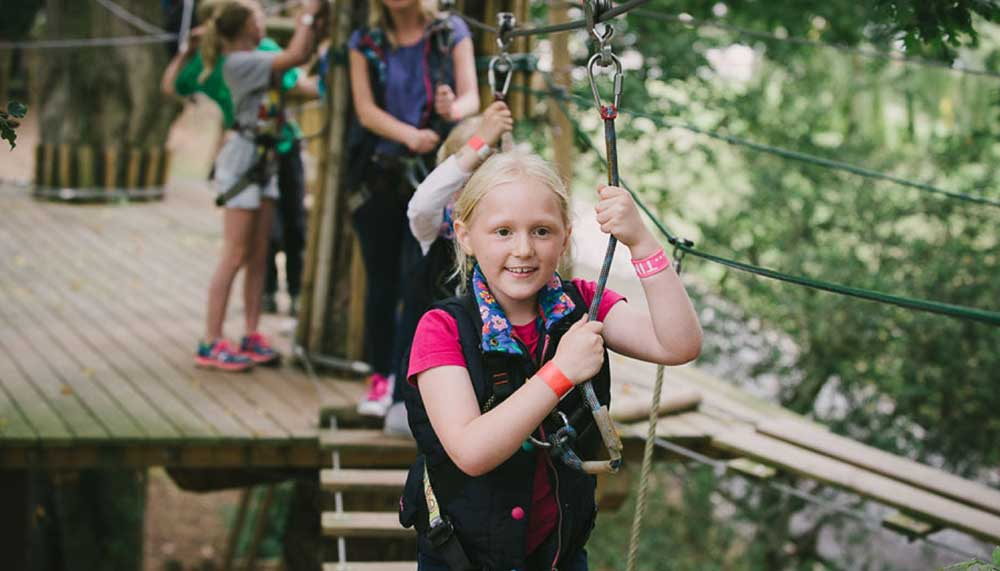 Tree Top Junior course at Go Ape Moors Valley
