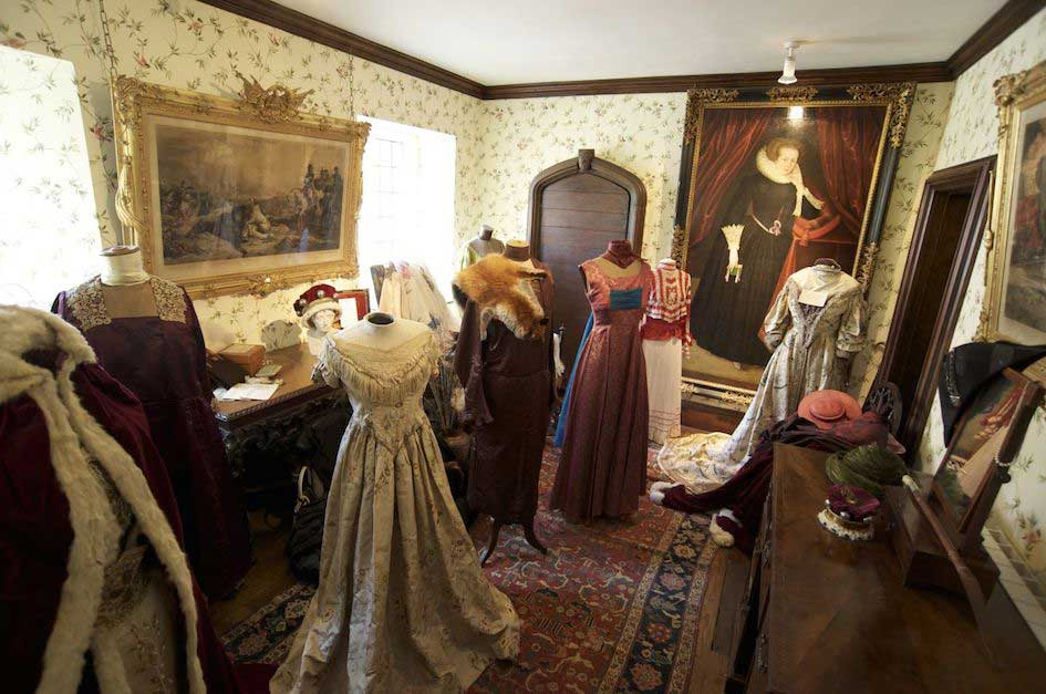 Period clothing on display at Athelhampton House