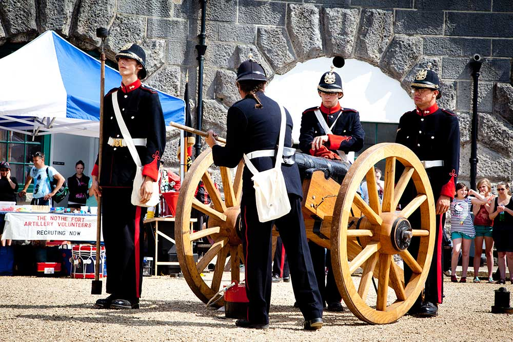 Cannon on display at Nothe Fort
