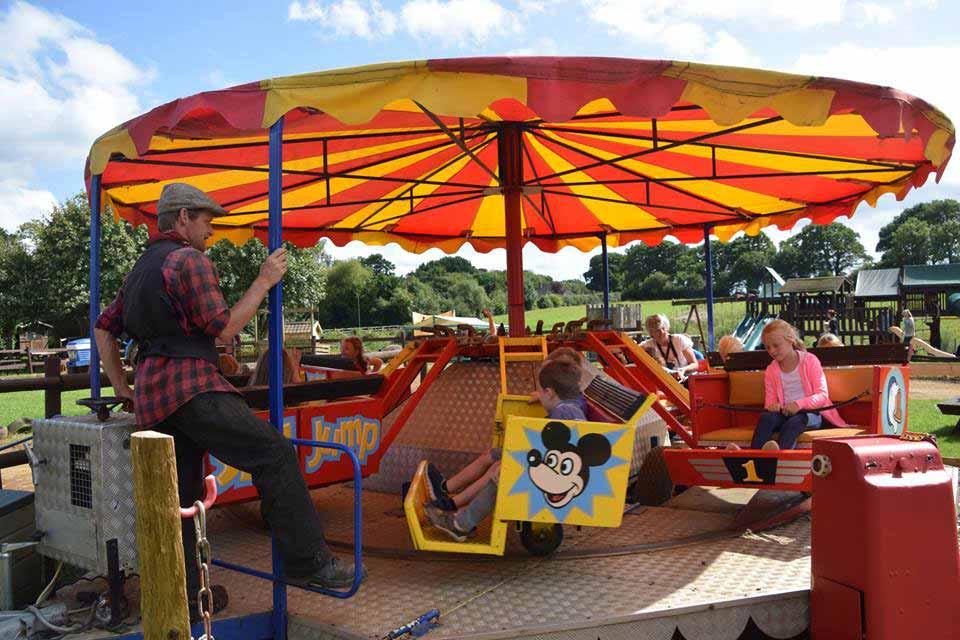 Fairground rides at Dorset Heavy Horse Farm Park