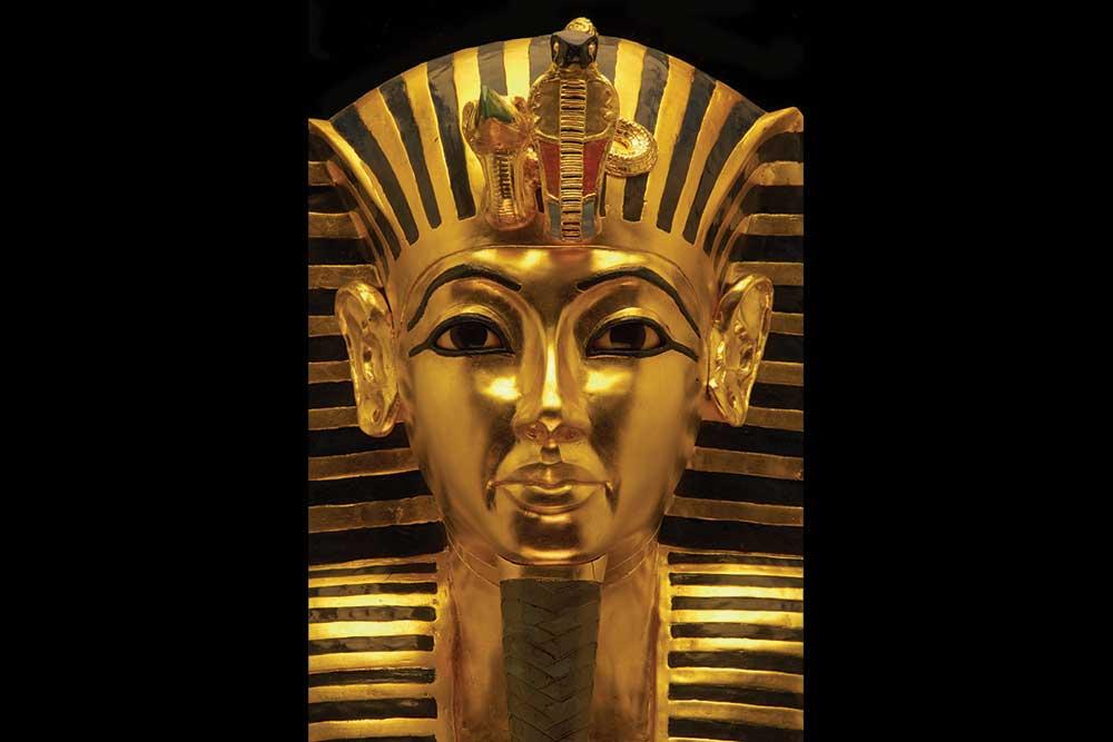 The Mask of Tutankhamun at The Tutankhamun Exhibition