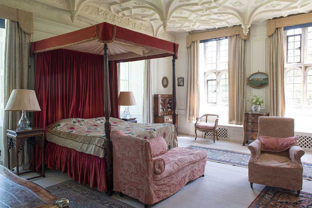 One of the bedrooms at Mapperton House