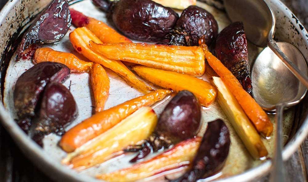 Roasted Dorset vegetables