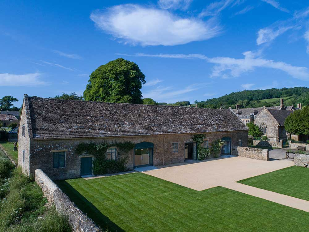 The Coach House and Sawmill Cafe at Mapperton House and Gardens in Dorset