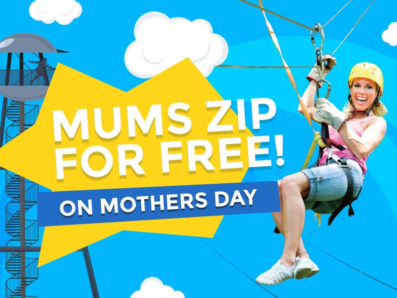 Mums Zip For Free This Mother's Day At Pierzip, Bournemouth Pier