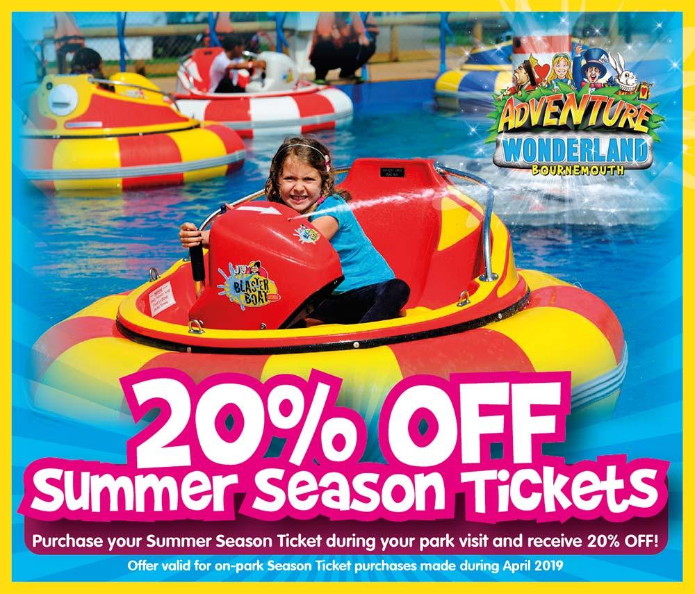 20% Off Summer Season Ticket At Adventure Wonderland