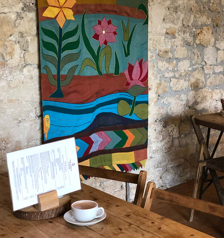 Indian Hangings Enrich Decor At Mapperton Cafe