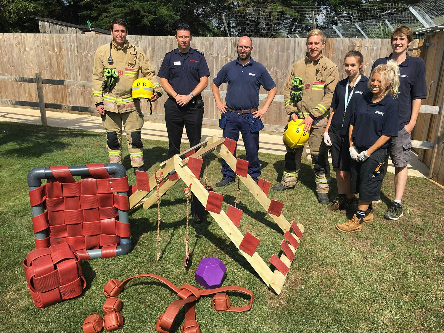 Dorset And Wiltshire Fire Service And The Weymouth SEA LIFE Team