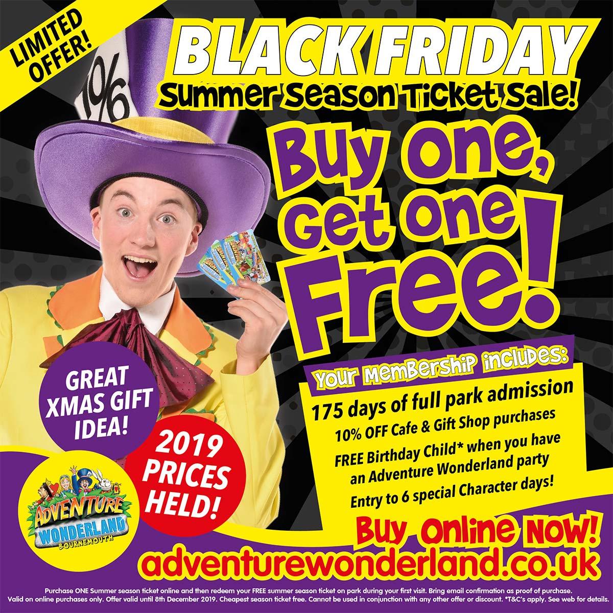 Adventure Wonderland Black Friday Ticket Offer