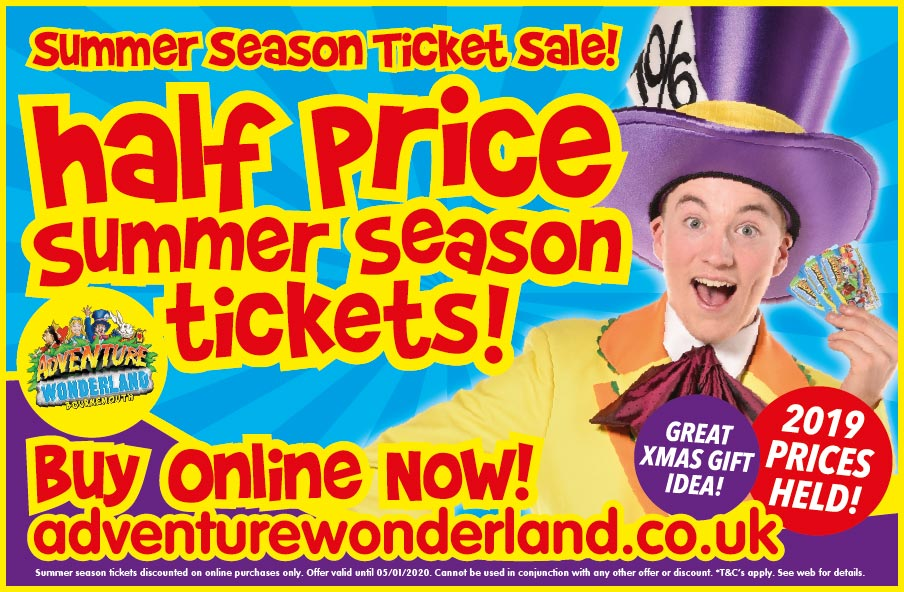 Adventure Wonderland Half Price Summer Season Ticket Offer